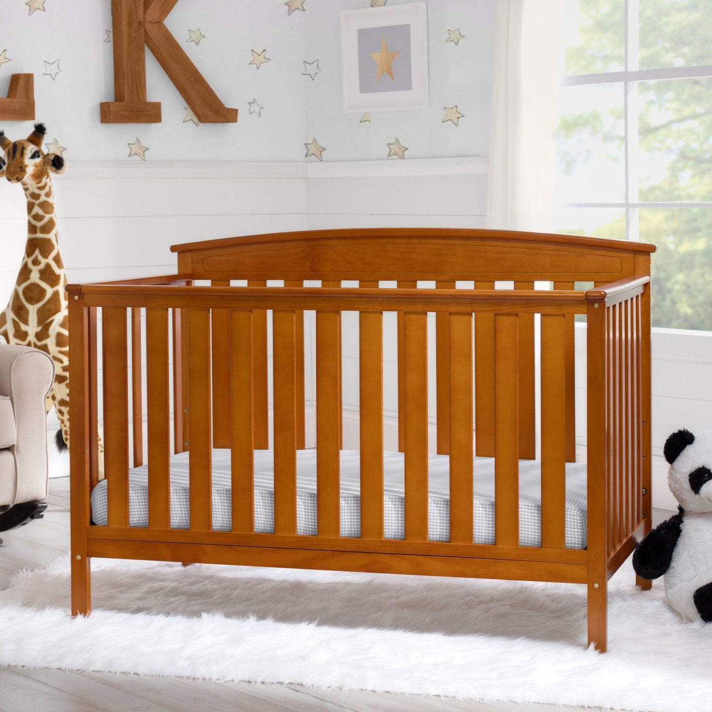 Gateway 4 in 1 Crib Warm Honey (251)