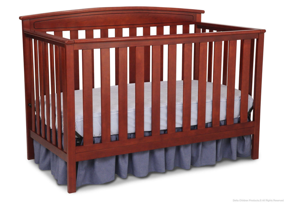 Delta Children Cabernet (648) Gateway 4-in-1 Crib, Toddler Bed Conversion with Toddler Guardrail f2f