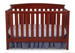 Delta Children Cabernet (648) Gateway 4-in-1 Crib, Toddler Bed Conversion with Toddler Guardrail f1f