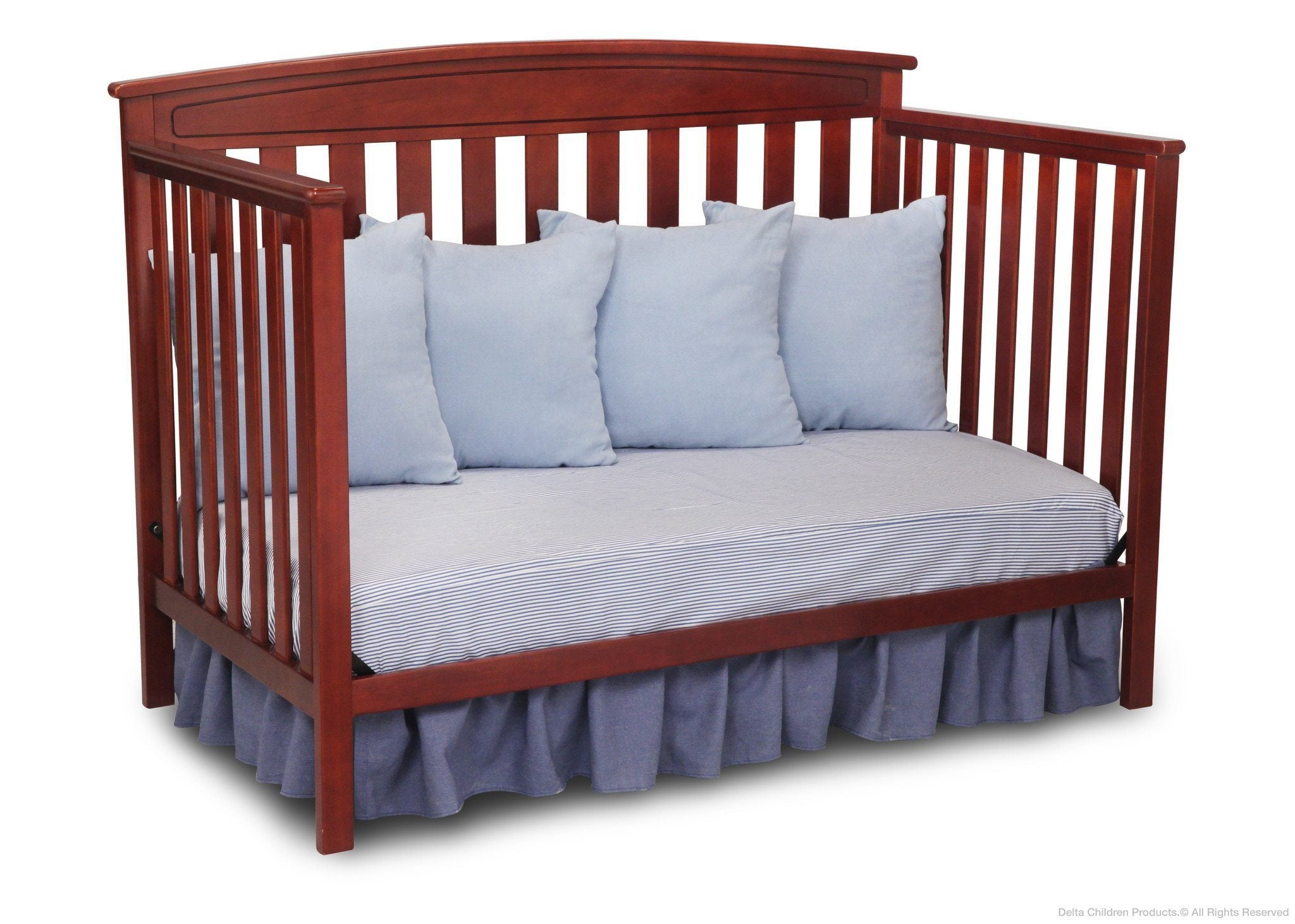 Delta Children Cabernet (648) Gateway 4-in-1 Crib, Toddler Bed Conversion with Daybed f4f