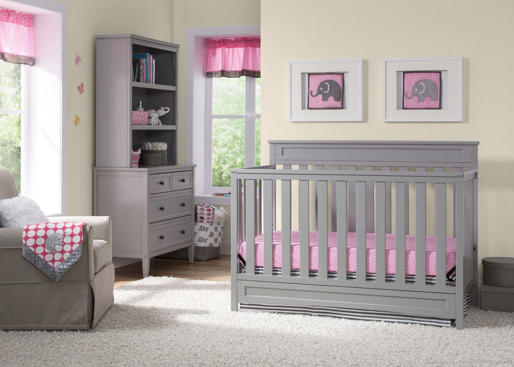 Delta Children Grey (026) Geneva 4-in-1 Crib with Props 2 a1a