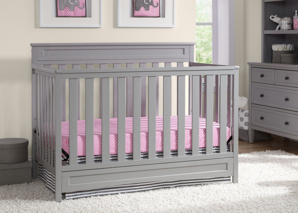 Delta Children Grey (026) Geneva 4-in-1 Crib with Props 1 a2a