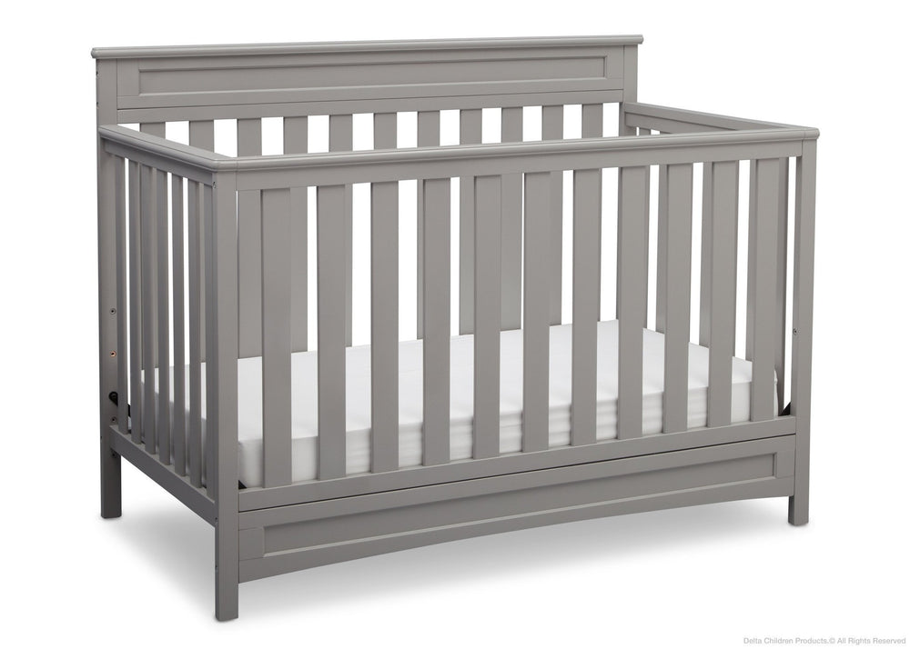 Delta Children Grey (026) Geneva 4-in-1 Crib, Crib Conversion a4a
