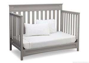 Delta Children Grey (026) Geneva 4-in-1 Crib, Day Bed Conversion a6a