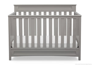 Delta Children Grey (026) Geneva 4-in-1 Crib, Front View a3a
