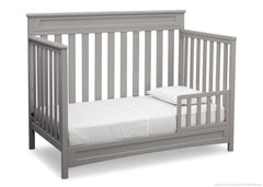 Delta Children Grey (026) Geneva 4-in-1 Crib, Toddler Bed Conversion with Toddler Guardrail a5a