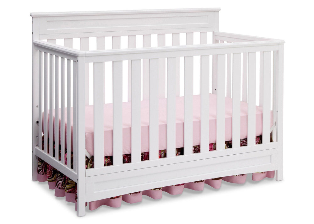 Delta Children White (100) Geneva 4-in-1 Crib, Crib Conversion b3b