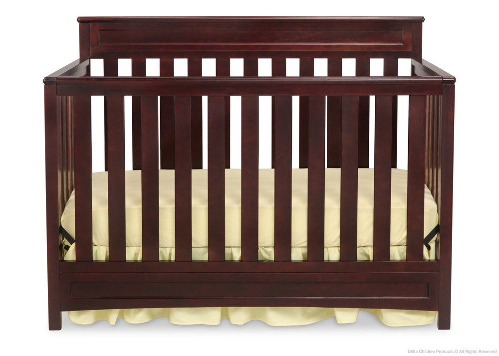 Delta Children Dark Chocolate (207) Geneva 4-in-1 Crib, Front View c1c