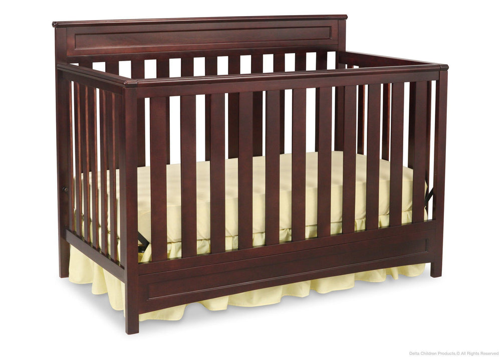 Delta Children Dark Chocolate (207) Geneva 4-in-1 Crib, Crib Conversion c2c