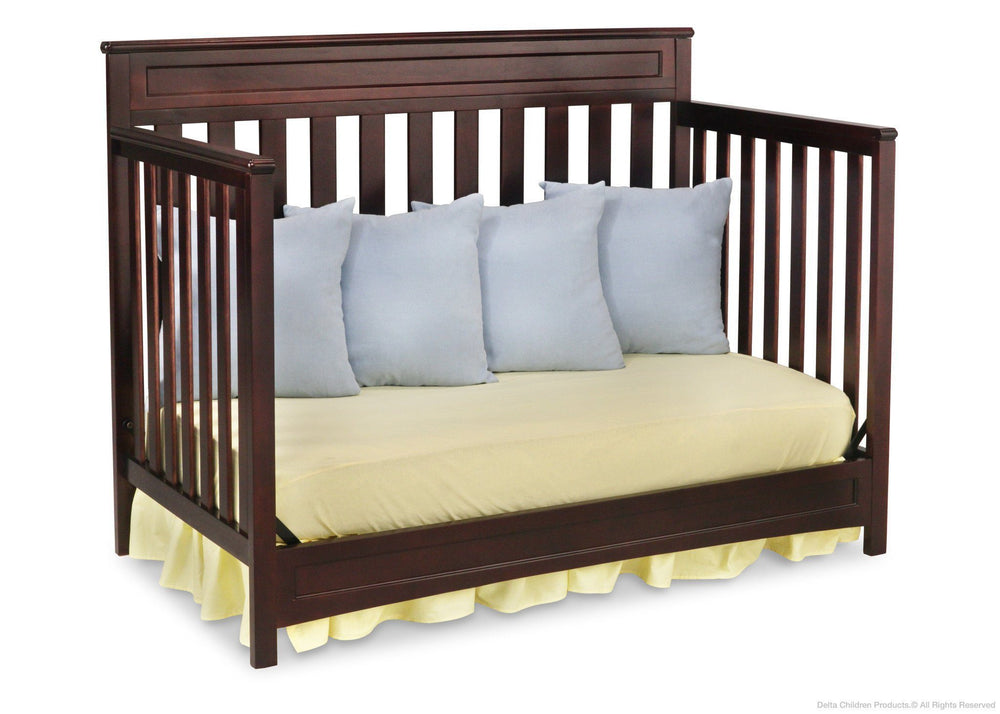 Delta Children Dark Chocolate (207) Geneva 4-in-1 Crib, Day Bed Conversion c4c
