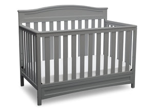 Delta Children Grey (026) Emery 4-in-1 Crib, Angle View c3c