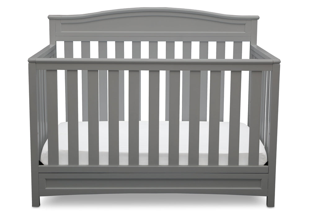 Delta Children Grey (026) Emery 4-in-1 Crib, Front View c2c