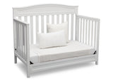 Delta Children White (100) Emery 4-in-1 Crib, Day Bed Conversion a5a