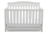 Delta Children White (100) Emery 4-in-1 Crib, Front View of Crib Conversion, a2a