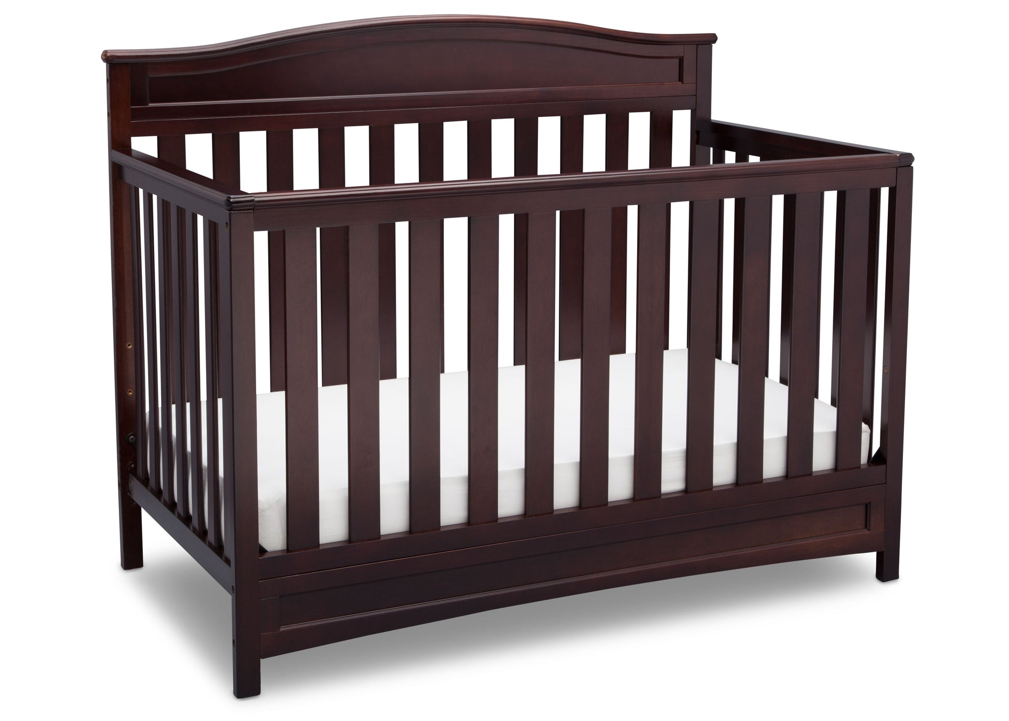Delta Children Dark Chocolate (207) Emery 4-in-1 Crib (7380), Angle View