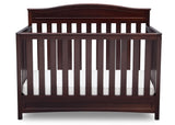 Delta Children Dark Chocolate (207) Emery 4-in-1 Crib, Front View of Crib Conversion b2b