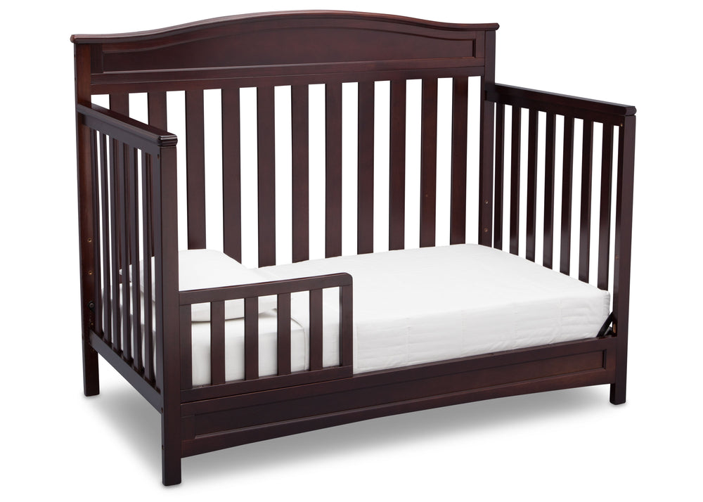 Delta Children Dark Chocolate (207) Emery 4-in-1 Crib, Toddler Bed Conversion with Toddler Guardrail b4b
