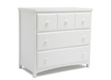 Delta Children White (100) 3 Drawer Dresser (74103), Side View, b1b