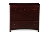 Delta Children Espresso Cherry (205) 3 Drawer Dresser (74103), Front View, d2d