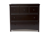 Delta Children Dark Chocolate (207) 3 Drawer Dresser (74103), Side View, e2e