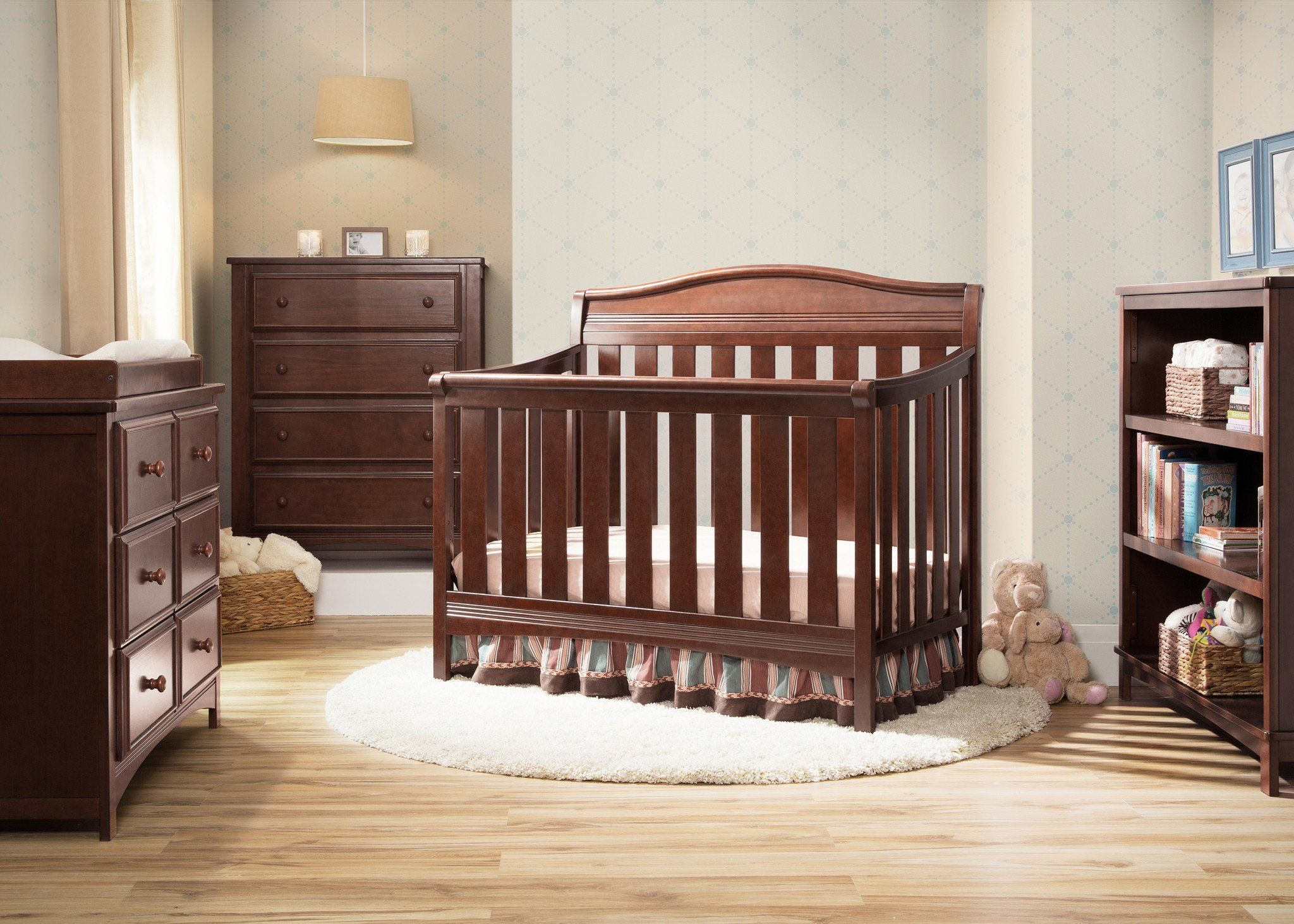 Delta Children Espresso Truffle 208 Summit 4 In 1 Crib Setting