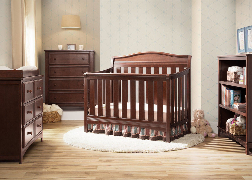 Delta Children Espresso Truffle (208) Summit 4-in-1 Crib in Setting a1a