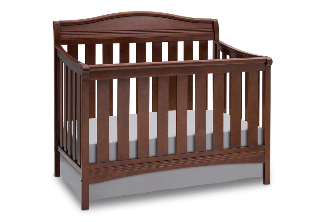 Delta Children Espresso Truffle (208) Summit 4-in-1 Crib, Crib Conversion a3a