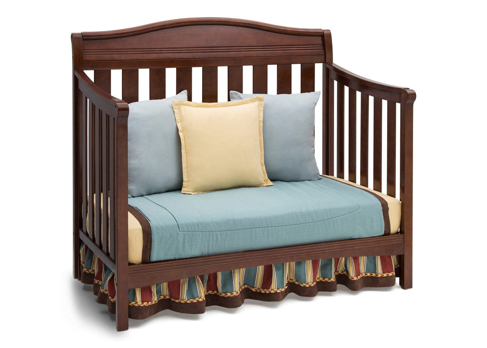 Delta Children Espresso Truffle (208) Summit 4-in-1 Crib, Day Bed Conversion a5a