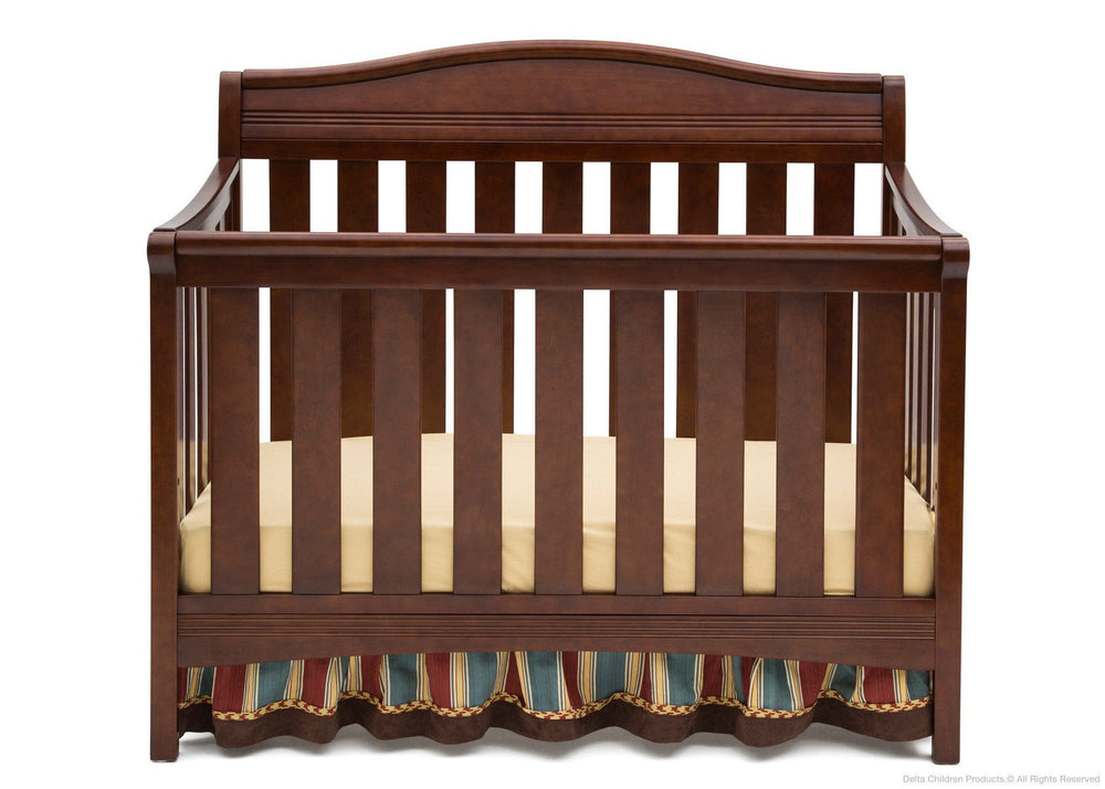 Delta Children Espresso Truffle (208) Summit 4-in-1 Crib, Crib Conversion a2a