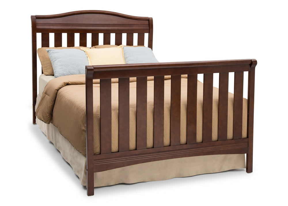 Delta Children Espresso Truffle (208) Summit 4-in-1 Crib, Full-Size Conversion a6a