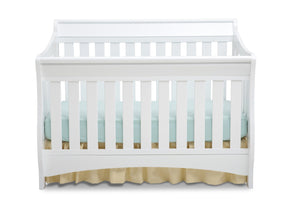 Delta Children White (100) Bentley 'S' Series 4-in-1 Crib, Front View a2a
