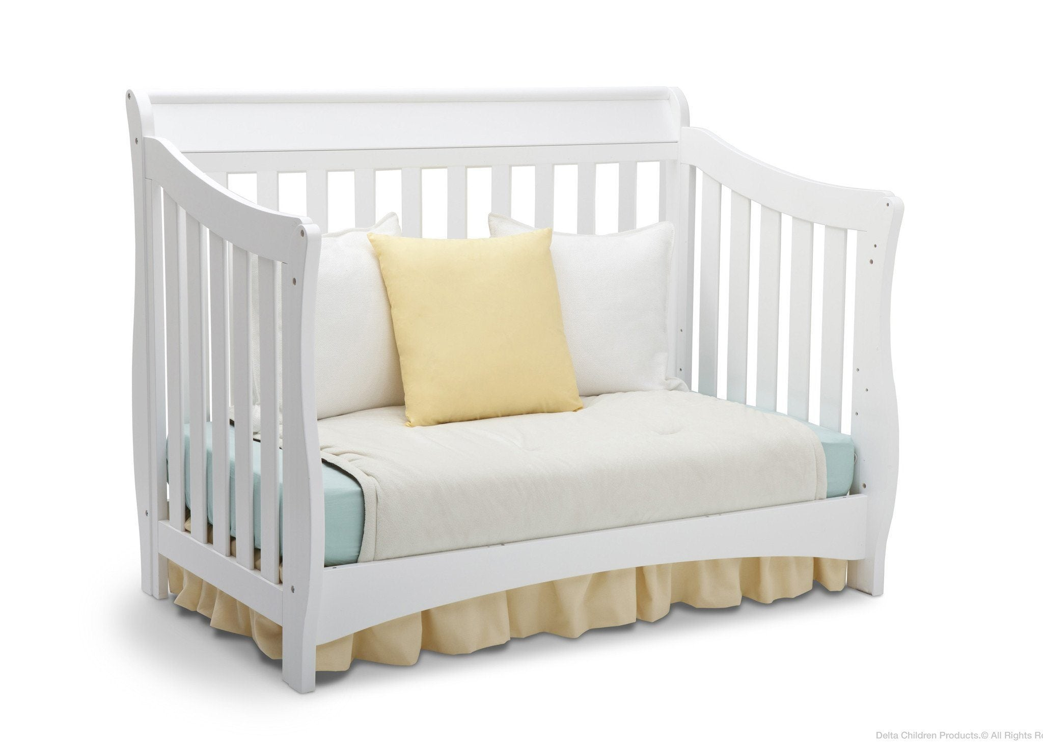Delta Children White (100) Bentley 'S' Series 4-in-1 Crib, Day Bed Conversion a5a