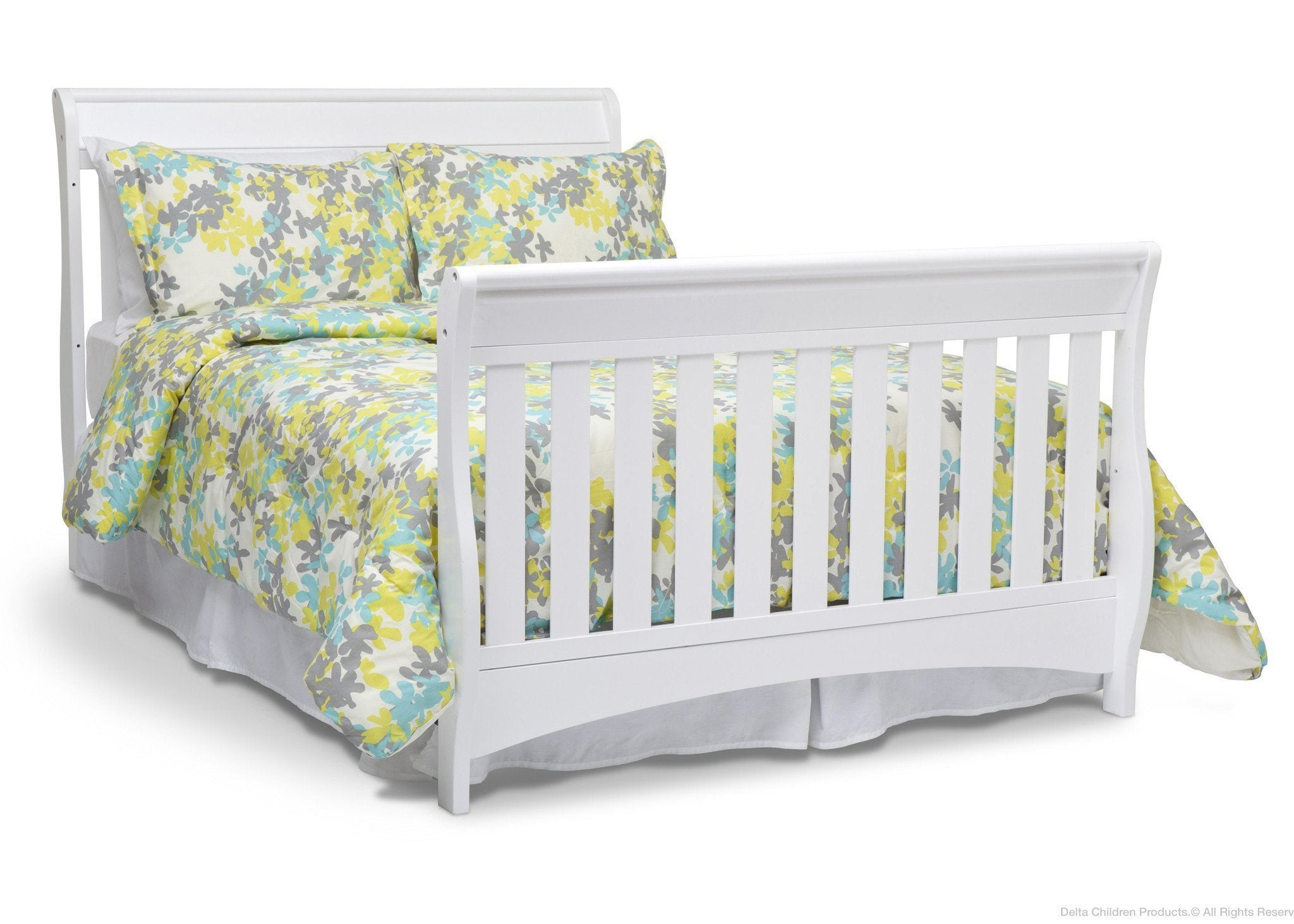 Delta Children White (100) Bentley 'S' Series 4-in-1 Crib, Full-Size Bed Conversion a6a
