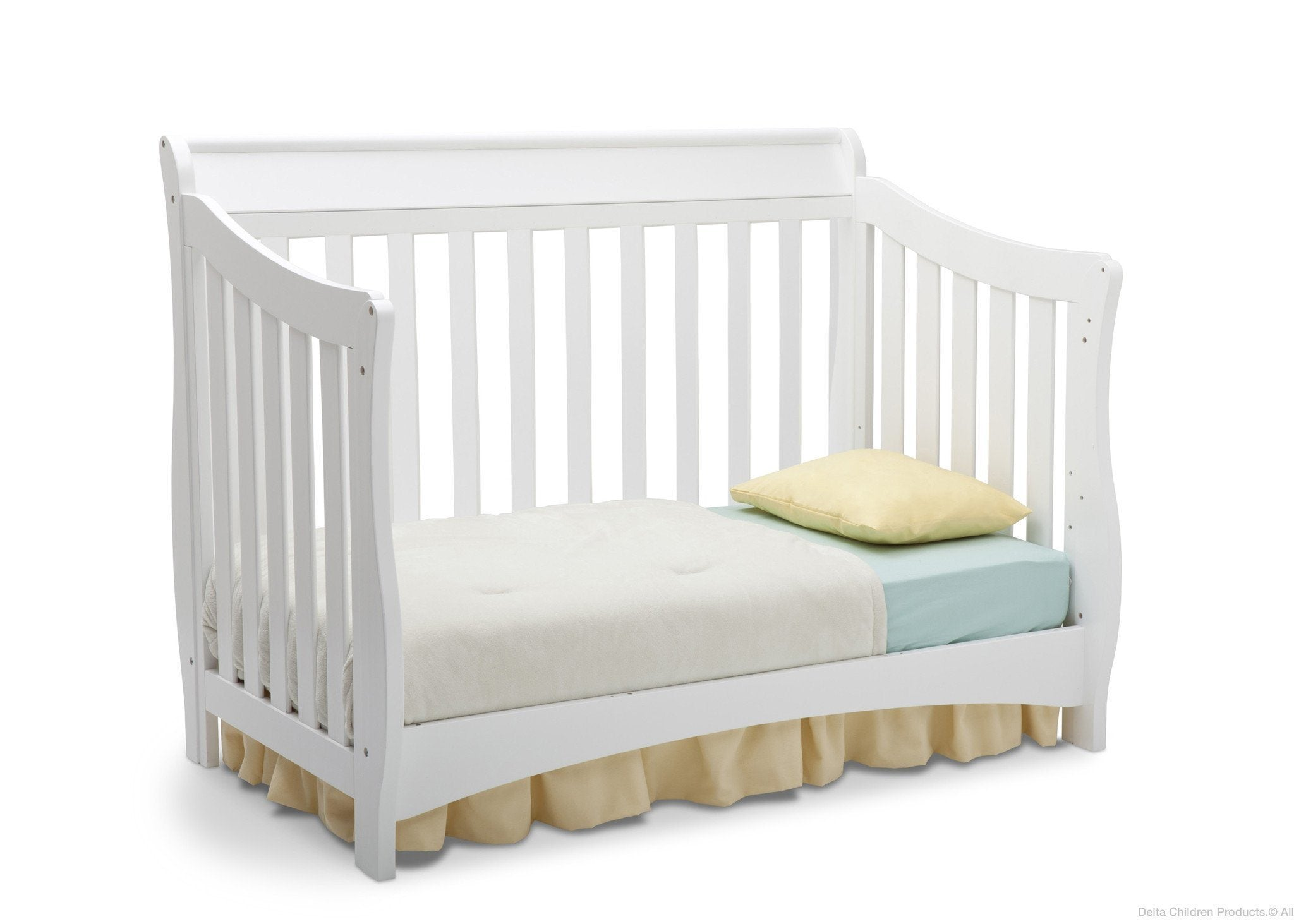 Delta Children White (100) Bentley 'S' Series 4-in-1 Crib, Toddler Bed Conversion a4a