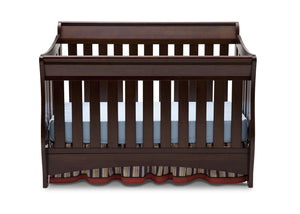 Delta Children Chocolate (204) Bentley 'S' Series 4-in-1 Crib, Crib Conversion, Front View b1b