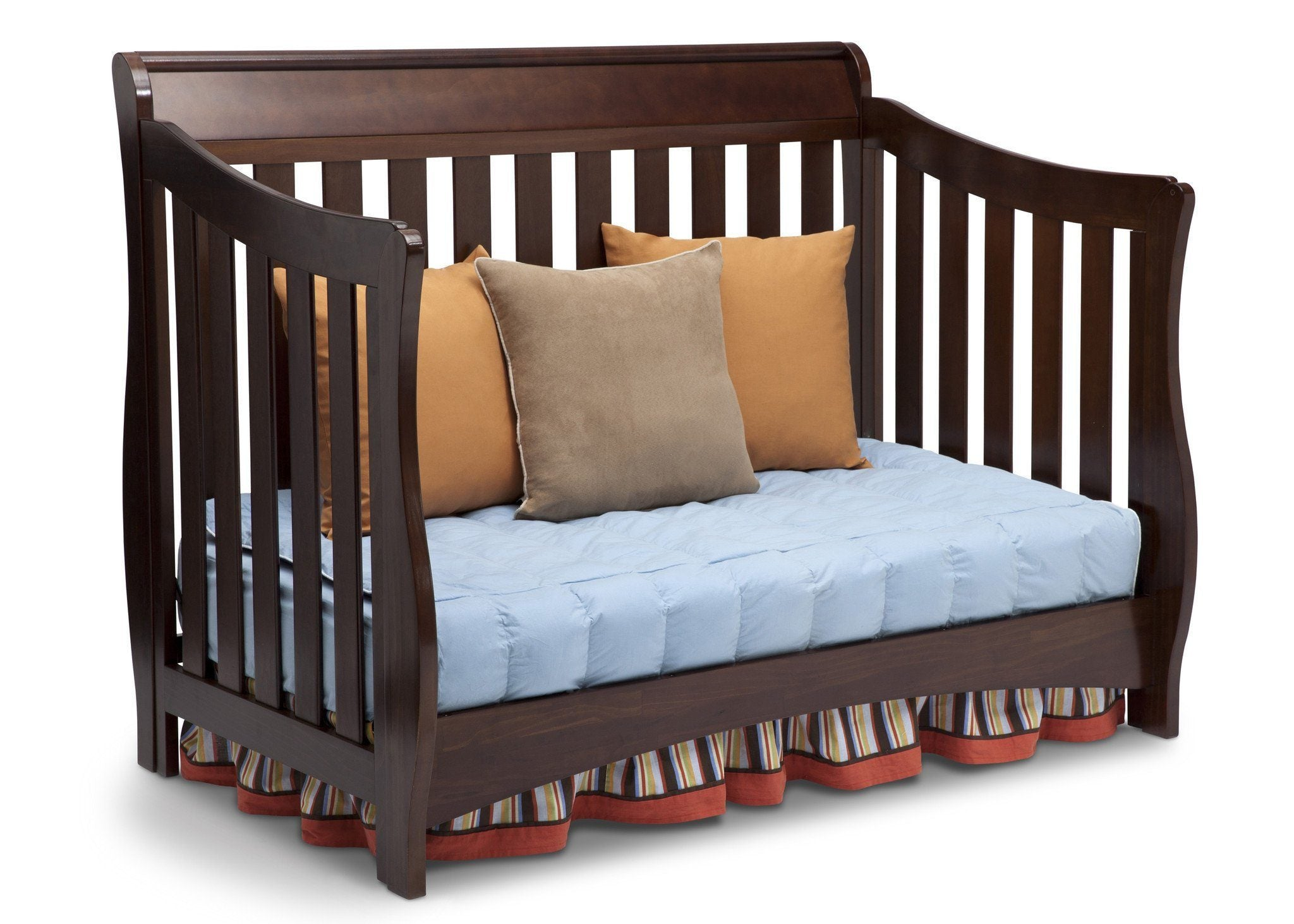 Delta Children Chocolate (204) Bentley 'S' Series 4-in-1 Crib, Day Bed Conversion b4b
