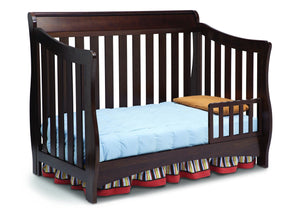 Delta Children Chocolate (204) Bentley 'S' Series 4-in-1 Crib, Toddler Bed Conversion with Toddler Guard Rail b3b