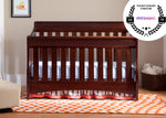 Delta Children Black Cherry Espresso (607) Bentley 'S' Series 4-in-1 Crib, Crib Conversion, Room View c1c