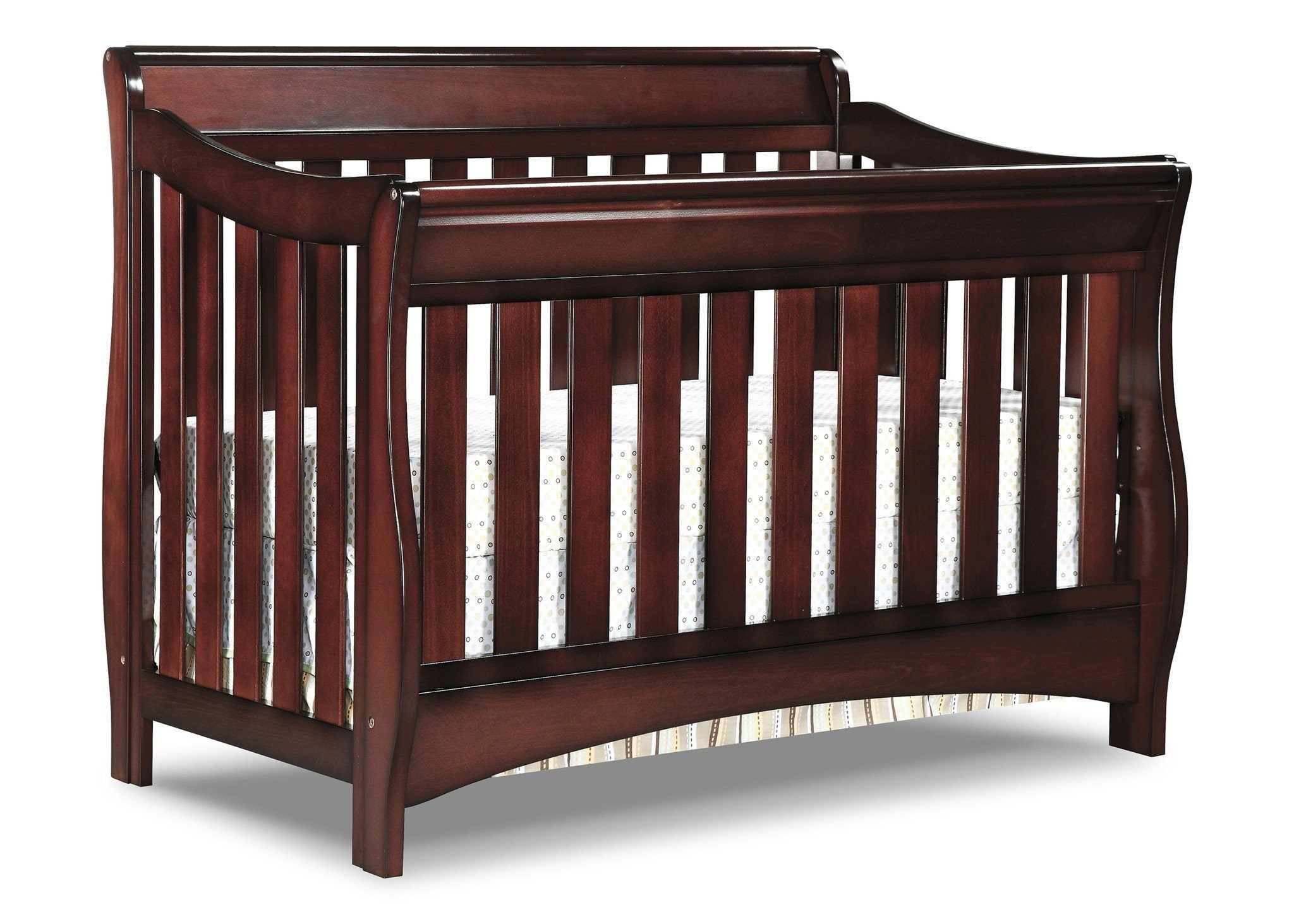 Delta Children Black Cherry Espresso (607) Bentley 'S' Series 4-in-1 Crib, Crib Conversion c3c