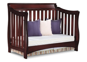 Delta Children Black Cherry Espresso (607) Bentley 'S' Series 4-in-1 Crib, Day Bed Conversion c5c