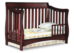 Delta Children Black Cherry Espresso (607) Bentley 'S' Series 4-in-1 Crib, Toddler Bed Conversion with Toddler Guard Rail c4c