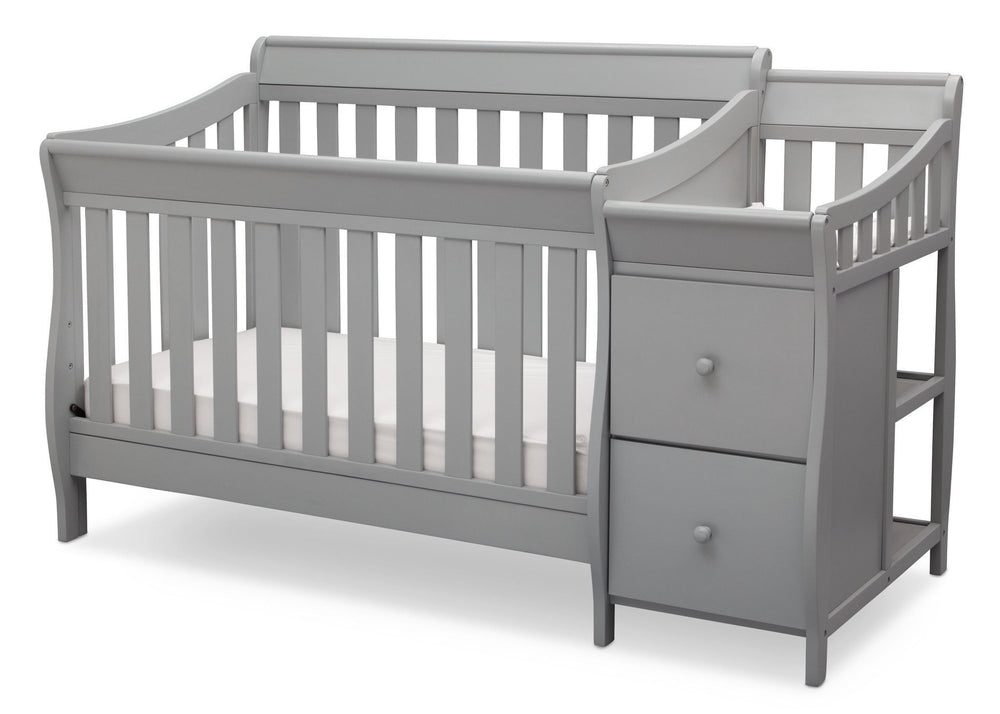 Delta Children Grey (026) Bentley S Crib-N-Changer Left Facing View a2a
