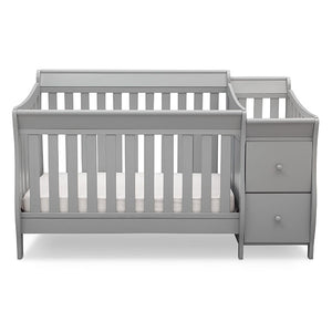 Delta Children Grey (026) Bentley S Crib-N-Changer Front Facing View a1a