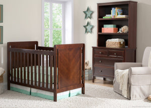 Delta Children Chocolate (204) Cypress 4-in-1 Crib, Crib Conversion with Props b1b