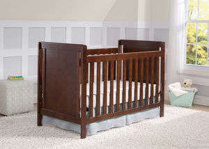 Delta Children Chocolate (204) Cypress 4-in-1 Crib, Crib Conversion with Props 2 b2b