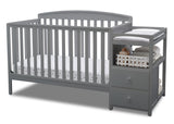 Delta Children Grey (026) Royal Crib 'N' Changer, Crib Conversion a3a