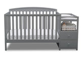 Delta Children Grey (026) Royal Crib 'N' Changer, Crib Conversion a2a