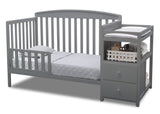 Delta Children Grey (026) Royal Crib 'N' Changer, Toddler Bed Conversion a4a
