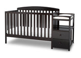 Delta Children Dark Chocolate (207) Royal Crib 'N' Changer, Crib Conversion c3c