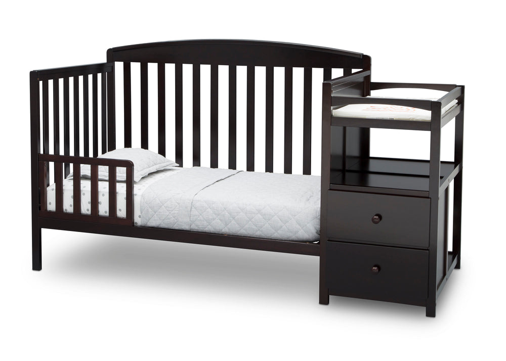 Delta Children Dark Chocolate (207) Royal Crib 'N' Changer, Toddler Bed Conversion c4c